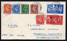 GVI FDC 3/5/1951  used in Alexandria Dunbartonshire  1951 First Day Cover
