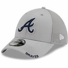 Atlanta Braves New Era Classic Neo 39THIRTY Flex Hat - Gray