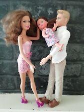 Mattel Barbie Ken Family Bundle Teresa Ryan Simba Brunette Troublesome Toddler