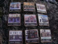GUINNESS BEER COASTERS - FEATURING VARIOUS GUINNESS PUBS - 9 COASTERS
