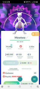 Pokemon Legendary Go Mewtwo Level 40 PVP Master League Same Day Trade Or 30 Day