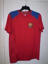BARCELONA FC Short Sleeve Jersey (S) SMALL FCB Patch on Chest BURGUNDY BLUE Nice