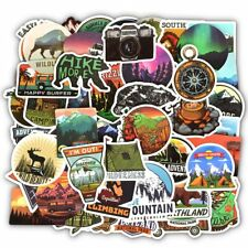 50 PCS Camping Adventure Wilderness and Outdoor Lovers Car Sticker