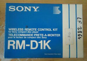 Kit Telecommande SONY RM-D1K pour lecteur compact disc Sony CDP-70