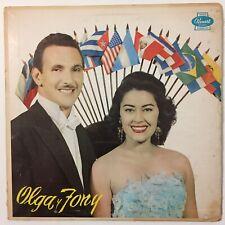 Olga Y Tony Con El Conjunto Vinyl Album Panart Records Cuban Boleros LP 3039 Vtg