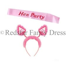 HEN PARTY GAMES PACKAGE FOR HEN NIGHT NOVELTY FUN HEAD BOPPERS PINK SASH