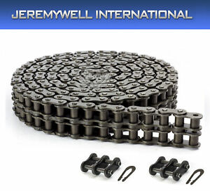 40-2 Double Strand Roller Chain 10 Feet with 2 Connecting Links