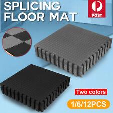 6/12PCS x Interlocking Heavy Duty EVA Foam Gym Flooring Floor Mat Mats Tiles