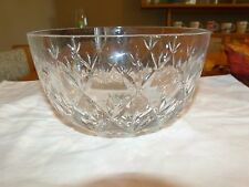 """Tiffany & Co 8"""" Decorative Crystal Bowl Apr 4 1/2"""" Deep"""