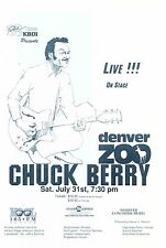 Chuck Berry 1993 Denver Zoo Colorado Concert Handbill Flyer Mint