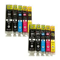 10 CARTUCCE XL COMPATIBILI CON CHIP CANON PIXMA MG5450 MG6350 MX725 MX925 IP7250