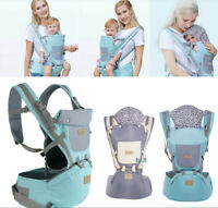 Ergonomic Baby Carrier With Hip Seat Stool Adjustable Wrap Sling Backpack Gift