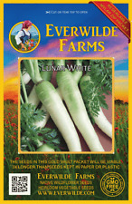 1 Oz Lunar White Carrot Seeds - Everwilde Farms Mylar Seed Packet