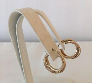Vintage Estate 10k Gold Double Twisted Hoop Earrings