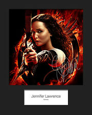JENNIFER LAWRENCE #4 Signed Photo Print 10x8 Mounted Photo RePrint - FREE DEL