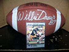 WILLIE DAVIS SIGNED WILSON NFL FOOTBALL