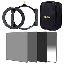 ZOMEI 4x6in. ND2+ND4+ND8+GND Gradual ND4+86mm Ring+Holder+16 Slot Case For Cokin