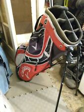 Red/ Black CALLAWAY CARRY BAG W/ STAND