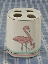 Ceramic Toothbrush holder with 2 Flamingos NICE