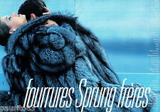 PUBLICITE ADVERTISING  046  1985  les fourrures Sprung Frères (2p)