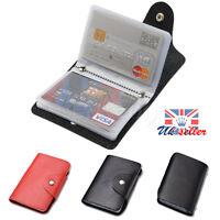 24 cartes pu cuir ID carte de visite porte-monnaie de poche portefeuille boîte