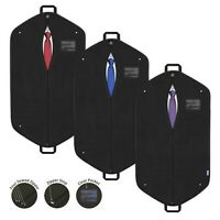 Suit Bag Travel Garment Dress Clothes Carrier Storage Breathable Black Cover