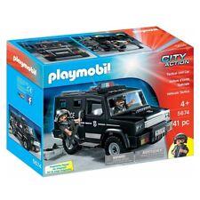 PLAYMOBIL 5674 Tactical Unit Car Police Truck Polizei Einsatzwagen Transporter
