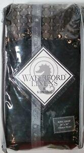 Waterford Ormonde King Sham Black Gold Beaded Flange
