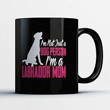 Black Labrador Coffee Mug - Labrador Mom - Adorable 11 oz Black Ceramic Tea Cup