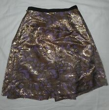 Marni for H&M Skirt Lilac Gold Metallic Jacquard Brocade Lined Full Size 6