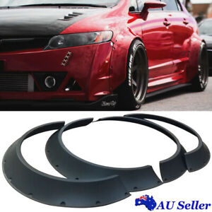Universal 4× ABS New School Wheel Arches Fender Flares 60mm + 80mm Width 800mm L