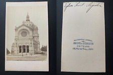 France, Paris, église Saint-Augustin Vintage albumen print CDV.  Tirage albumi