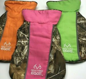 REALTREE EDGE Dog Jacket Camo Reflective Adjustable to Fit Fleece Lining New