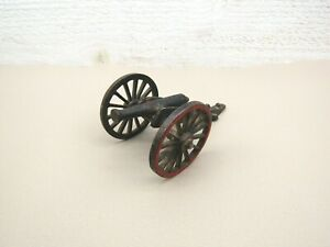 VINTAGE IRON FIELD CANNON Grey Iron Metal Toy Artillery Army USA Unbranded