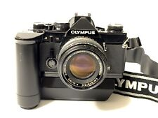Olympus OM-2 MD 35mm Film Camera W/ Winder 2 Strap Zuiko 50mm Lens Japan SLR