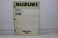 1968 66 67 69 SUZUKI T10 MODEL 250 PARTS CATALOGUE (SSM)