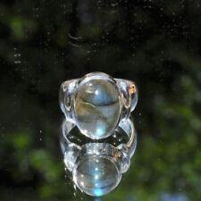Ringe mit Labradorit echten Edelsteinen aus Sterlingsilber mit Cabochon-Schliffform