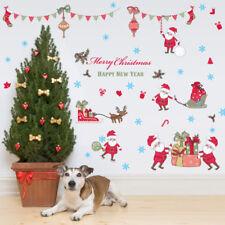 Weihnachtsdeko Xmas.Möbel Wohnen Diy Merry Christmas Wandaufkleber Wandtattoo