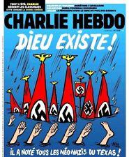 CHARLIE HEBDO 30/08/17*n°1310*RARE*DIEU existe*Il a noyé les néo-nazis du TEXAS!