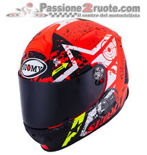 helmet Suomy SR sport stars Orange Casque Motorrad Integral helm size s