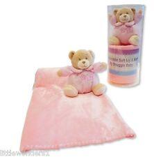Baby Mädchen Rosa Bezaubernde Weich Teddybär & Decke - Verpackt Geschenk Set