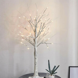 60CM White Easter Birch Tree LED Light Up Christmas Twig Tree Hanging Decor A4UK