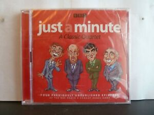JUST A MINUTE -  A CLASSIC QUARTET - 2 x CD AUDIO BOOK New/sealed BBC Radio 4
