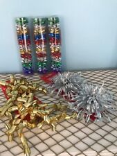 Lot Of Mini Curly Gold And Silver Pop Up Bows New