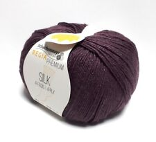 Regia Premium Silk 100g Sockenwolle 4 Fädig Farbe 00045 feige