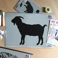 Farm Animal Goat STENCIL home decor art craft reusable Wall painting stencils