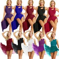 Women's Lyrical Dress Contemporary Ballet Dance Leotard Latin Dancewear Costume