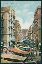 Napoli città Basso Porto Mercato cartolina VK4626