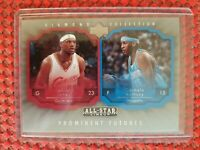 2004-05 Lebron James/Carmelo Anthony Diamond Collection PROMINENT FUTURES Rookie