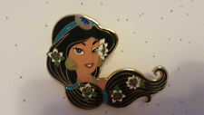 Jasmine Aladdin Hair Glitter JUMBO Flowers Disney Fantasy Pin
